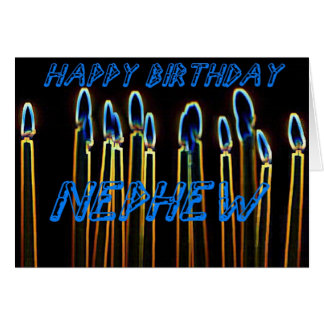 Candle Happy Birthday Nephew Card