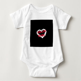 Candle Heart Design For Dallas, Texas Baby Bodysuit