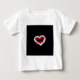 Candle Heart Design For Dallas, Texas Baby T-Shirt