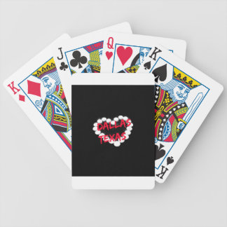 Candle Heart Design For Dallas, Texas Bicycle Playing Cards