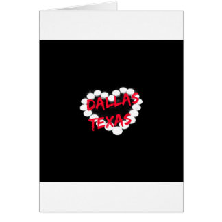 Candle Heart Design For Dallas, Texas Card