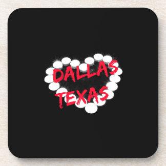 Candle Heart Design For Dallas, Texas Coasters