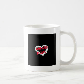 Candle Heart Design For Dallas, Texas Coffee Mug