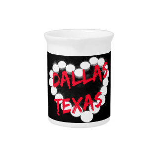 Candle Heart Design For Dallas, Texas Pitcher