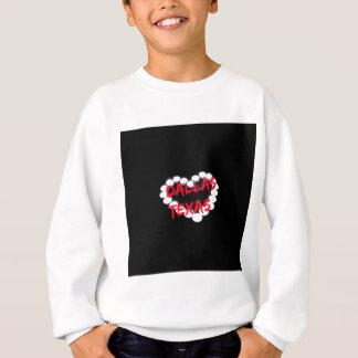 Candle Heart Design For Dallas, Texas Sweatshirt