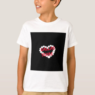 Candle Heart Design For Dallas, Texas T-Shirt