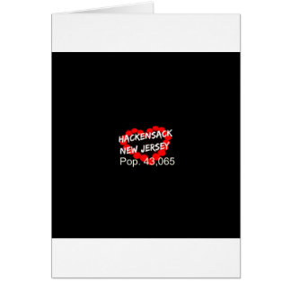 Candle Heart Design For Hackensack, New Jersey Card