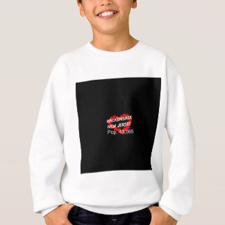 Candle Heart Design For Hackensack, New Jersey Sweatshirt