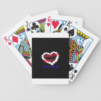 Candle Heart Design For Houston, Texas Bicycle Playing Cards