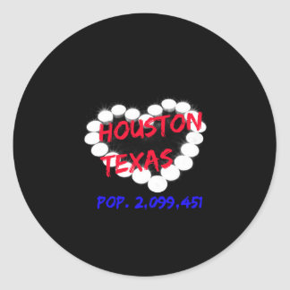 Candle Heart Design For Houston, Texas Classic Round Sticker