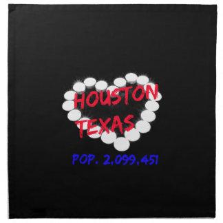 Candle Heart Design For Houston, Texas Cloth Napkins