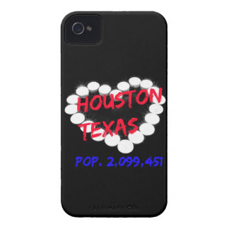 Candle Heart Design For Houston, Texas iPhone 4 Covers