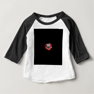 Candle Heart Design For North Dakota State Baby T-Shirt