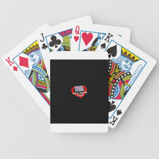 Candle Heart Design For North Dakota State Bicycle Playing Cards