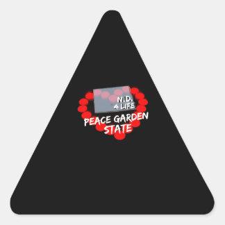 Candle Heart Design For North Dakota State Triangle Sticker