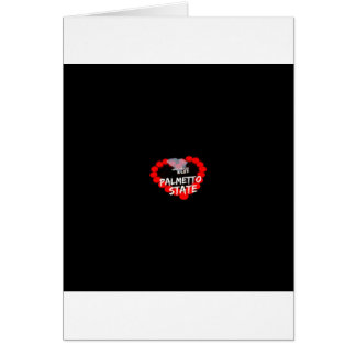 Candle Heart Design For South Carolina State Card