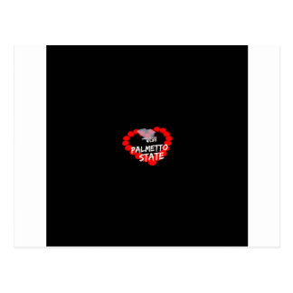 Candle Heart Design For South Carolina State Postcard