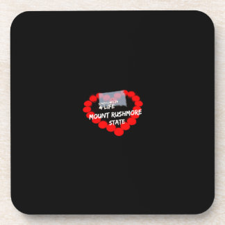 Candle Heart Design For South Dakota State Coaster