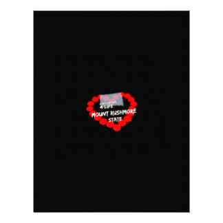 Candle Heart Design For South Dakota State Personalized Letterhead