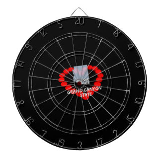 Candle Heart Design For The State of Arizona Dartboard