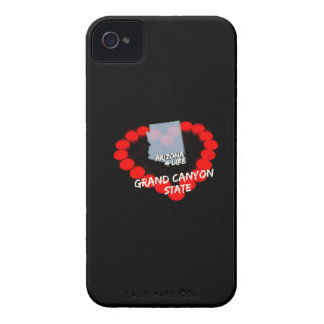 Candle Heart Design For The State of Arizona iPhone 4 Case-Mate Case