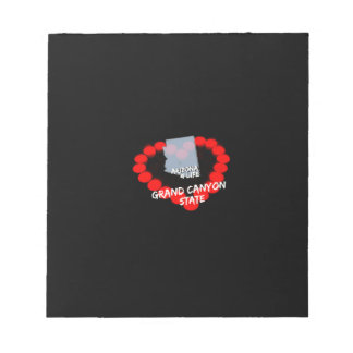 Candle Heart Design For The State of Arizona Notepads