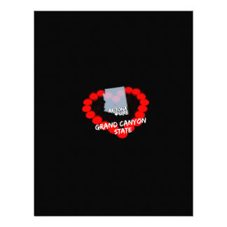 Candle Heart Design For The State of Arizona Personalized Letterhead
