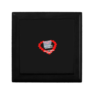 Candle Heart Design For The State of Arkansas Gift Box