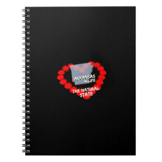 Candle Heart Design For The State of Arkansas Notebook