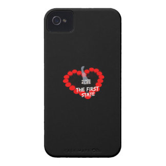 Candle Heart Design For The State of Delaware iPhone 4 Cases