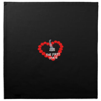 Candle Heart Design For The State of Delaware Napkin