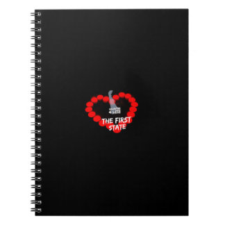 Candle Heart Design For The State of Delaware Note Book