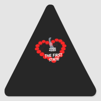 Candle Heart Design For The State of Delaware Triangle Sticker