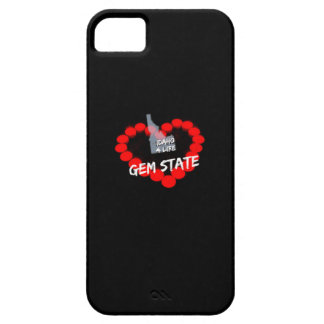 Candle Heart Design For The State of Idaho Case For The iPhone 5