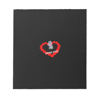 Candle Heart Design For The State of Illinois Notepad