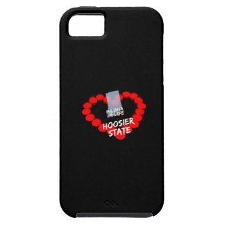 Candle Heart Design For The State of Indiana iPhone 5 Cover