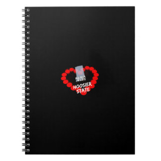 Candle Heart Design For The State of Indiana Spiral Notebooks