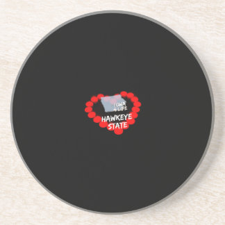 Candle Heart Design For The State of Iowa Coasters