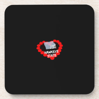 Candle Heart Design For The State of Iowa Drink Coaster