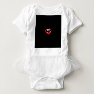 Candle Heart Design For The State of Kansas Baby Bodysuit