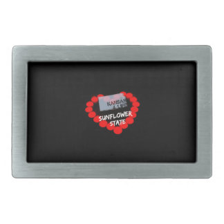 Candle Heart Design For The State of Kansas Belt Buckle