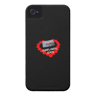 Candle Heart Design For The State of Kansas iPhone 4 Cases