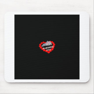 Candle Heart Design For The State of Kentucky Mouse Pad