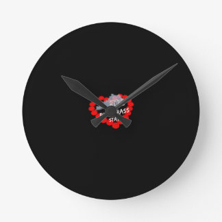 Candle Heart Design For The State of Kentucky Round Clock