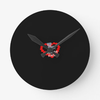 Candle Heart Design For The State of Louisiana Round Clock