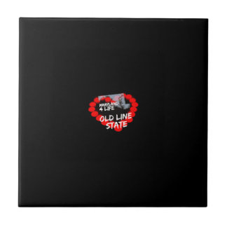 Candle Heart Design For The State of Maryland Ceramic Tile