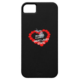 Candle Heart Design For The State of Michigan iPhone 5 Case