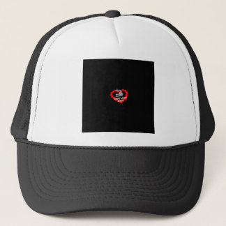 Candle Heart Design For The State of Michigan Trucker Hat