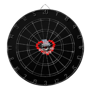 Candle Heart Design For The State of Missouri Dartboard