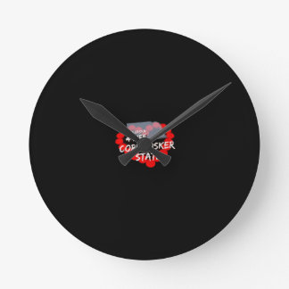 Candle Heart Design For The State of Nebraska Round Clock